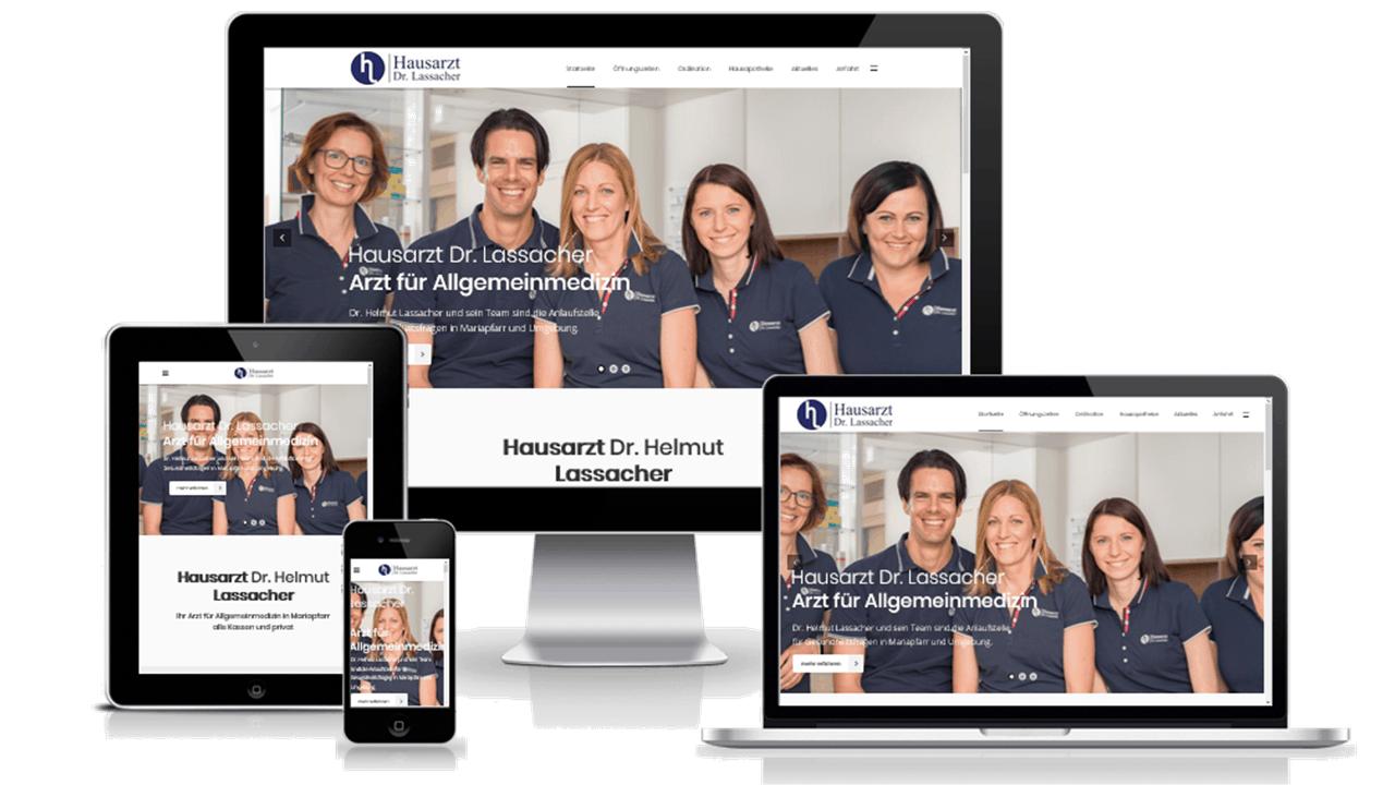 Dr. Lassacher - Website ist online