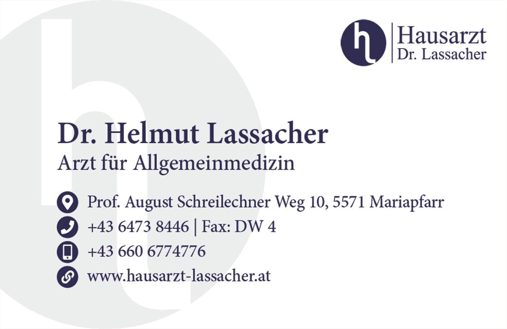 Visitenkarten - Hausarzt Dr. Lassacher
