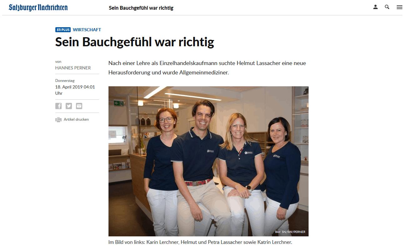 Pressebericht - Salzburger Nachrichten